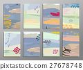 Set of abstract hand draw creative universal cards 27678748