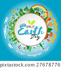Earth Day. Eco friendly ecology concept. Vector 27678776