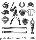 Set of vector baseball icons 27680007