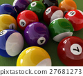 Group of billiard balls with numbers. (Pool).. 27681273