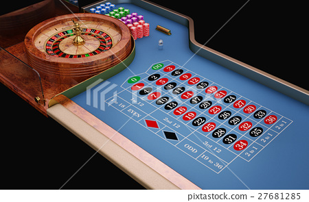 Roulette table close up view. 27681285