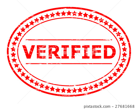 Grunge red verified text rubber stamp - ภาพประกอบสต็อก [27681668
