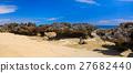 沿海 山石的 海滩 27682440