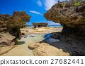 沿海 山石的 海滩 27682441