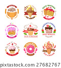 Set of Confectionery Logos Isolated. Vector Sweets 27682767