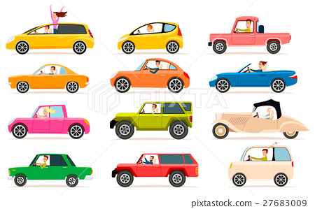 Collection of Different Types of Automobile Cabine 27683009