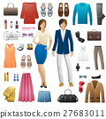 Set of Clothes. Fashion Look Style. Flat Design 27683011