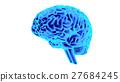 Human brain 3D render 27684245