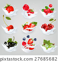 Big collection of icons of fruit and berries 27685682