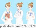 beauty cartoon woman doctor 27686979