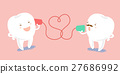 cartoon tooth speaking can phone 27686992