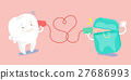 cartoon tooth speaking can phone 27686993