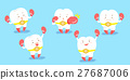 cute cartoon tooth wear boxing 27687006