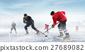 Hockey players on the ice 27689082