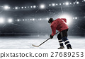 Hockey player on the ice 27689253