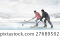 Hockey players on the ice 27689502