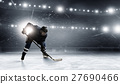 Hockey player on the ice 27690466
