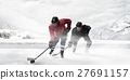 Hockey players on the ice 27691157