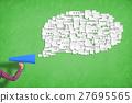 woman paper speech 27695565