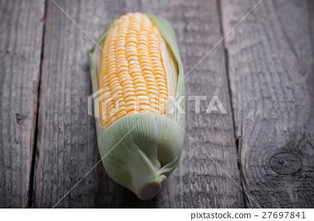 Corn on wood 27697841
