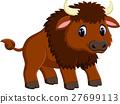 Cute bison cartoon 27699113