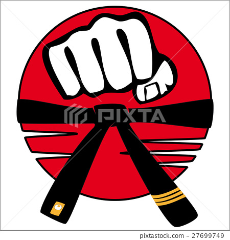 Symbol Martial arts karate, kickboxing