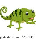 Cartoon cute Chameleon 27699813
