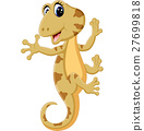 illustration of Cartoon cute lizard 27699818