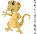 illustration of Cartoon cute lizard 27699819