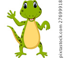 illustration of Cartoon cute lizard 27699918