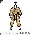 MARTIAL ARTS.Taekwondo karate fighting scene  27699934