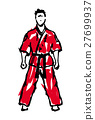MARTIAL ARTS.Taekwondo karate fighting scene  27699937