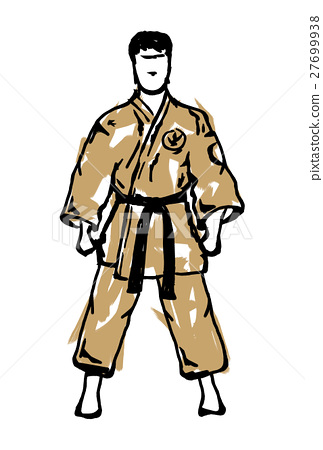 MARTIAL ARTS.Taekwondo karate fighting scene  27699938