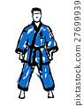 MARTIAL ARTS.Taekwondo karate fighting scene  27699939