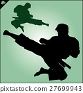 MARTIAL ARTS.Taekwondo karate fighting scene  27699943