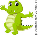 vector, cartoon, crocodile 27700514