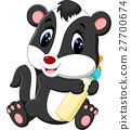 illustration of baby skunk cartoon 27700674