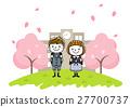 เด็กผู้หญิง,ดอกซากุระบาน,ซากุระบาน 27700737