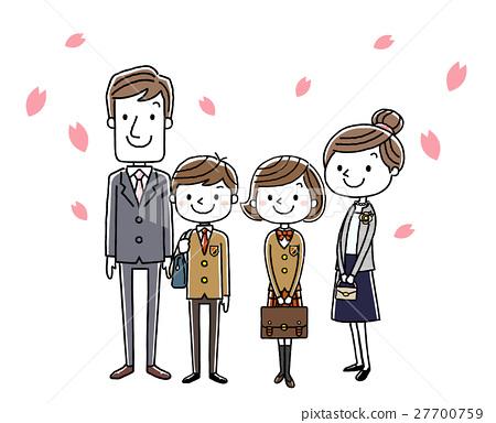 入学典礼 父母 女孩 27700759