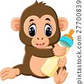 monkey, vector, cartoon 27700839
