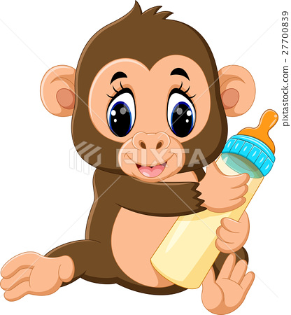 illustration of cute Cartoon monkey 27700839