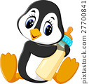 illustration of cute penguin cartoon 27700841