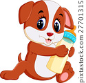 illustration of cute dog cartoon 27701315
