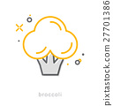 Thin line icons, Broccoli 27701386