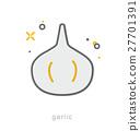 Thin line icons, Garlic bulb 27701391