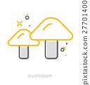 Thin line icons, Mushroom 27701400