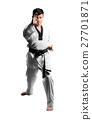 Portrait of a handsome asian man with taekwondo 27701871