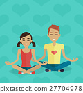 Meditation Vector Concept in Flat Design 27704978