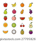 Fruit Healthy Food Set Of Nature Color Icons 27705826