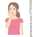 Women's facial anxiety depressed worry 27705956